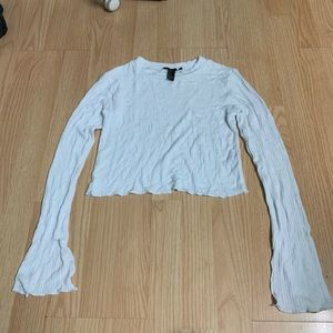 Forever 21 white thin crop top